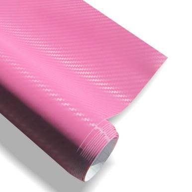 3D pink karbon fólia matrica