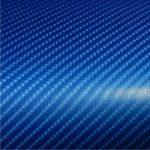 4D kék karbon fólia matrica