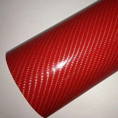 4D piros karbon fólia matrica