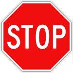 Stop, KRESZ tábla