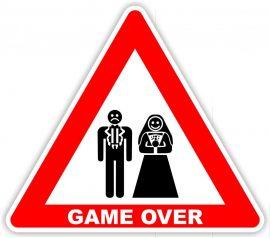 Game over tábla_esküvő, legénybúcsú