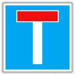 Zsákutca, közlekedési tábla