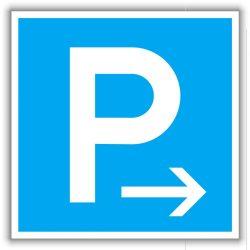 """""""Parkoló"""" tábla"""