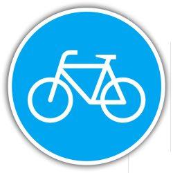 """""""Bicikli út"""" tábla"""