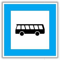 Buszmegálló KRESZ tábla