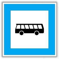 """""""Buszmegálló"""" tábla"""