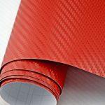 3D piros karbon fólia matrica