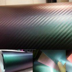 3D flip flop karbon fólia zöld lila