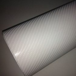4D fehér karbon fólia matrica