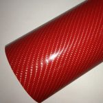 4D piros színes karbon fólia