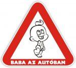 Baba az autóban mágnes