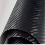 Légcsatornás 3D fekete karbon fólia matrica 3M XVII. kerület
