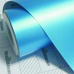 Prémium matt acél kék króm fólia