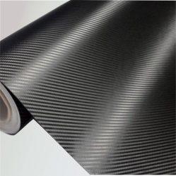 Prémium 3D fekete karbon fólia nyújtható