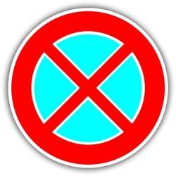 Megállni tilos, KRESZ tábla