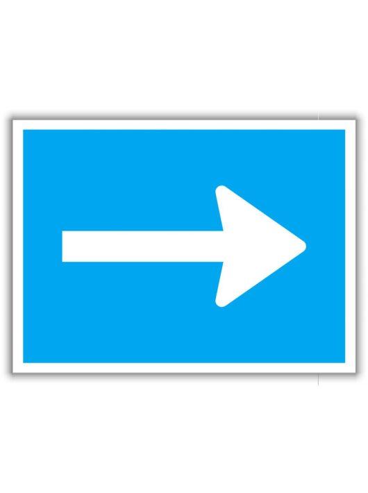 Kötelező haladási irány, közlekedési tábla