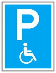 Mozgássérült parkoló, közlekedési tábla